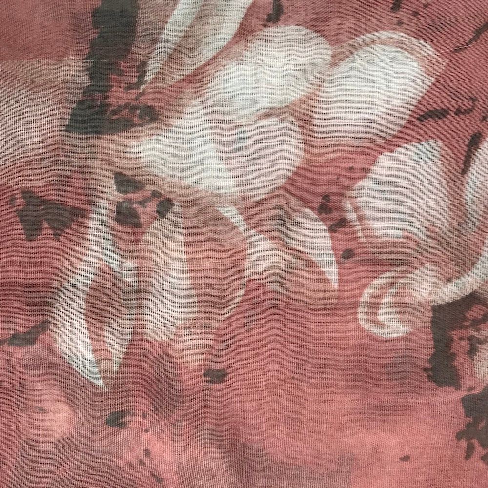 Pink Lily Scarf