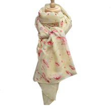 Cream Poppy Scarf