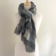 Animal and Stripe Scarf - Cool