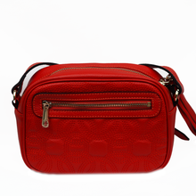 Patterned Leather Cross Body Bag - Watermelon