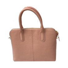 Grained Leather Handbag - Pale Dogwood