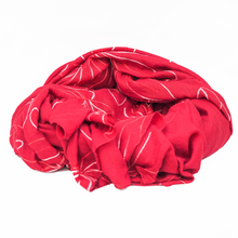 Red Flower Burst Scarf