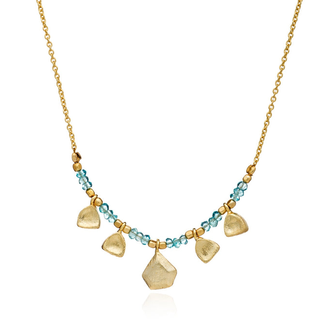 Themis Nugget & Gemstone Necklace