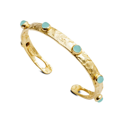 Selene Aqua Gemstone Bangle
