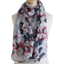 Heart Scarf - Blue and Red