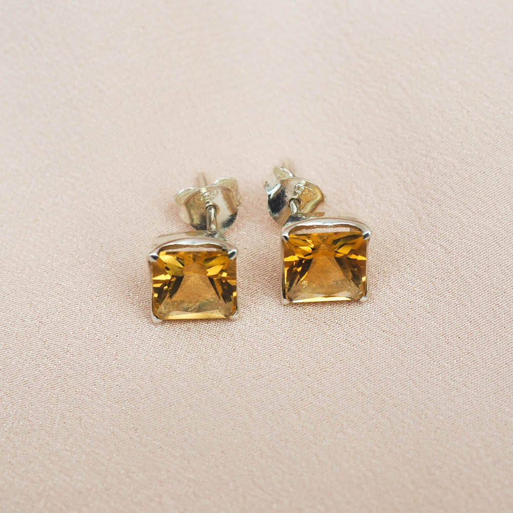Earrings - Citrine
