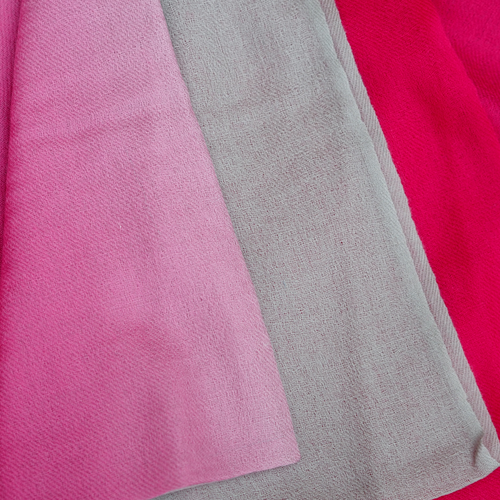 Fine Wool Scarf - Pink & Grey