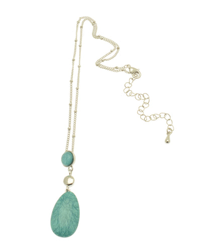 Francesca Mint Droplet Necklace