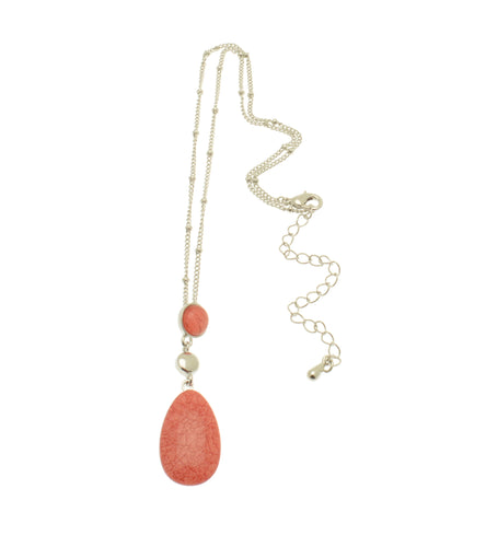 Francesca Coral Droplet Necklace