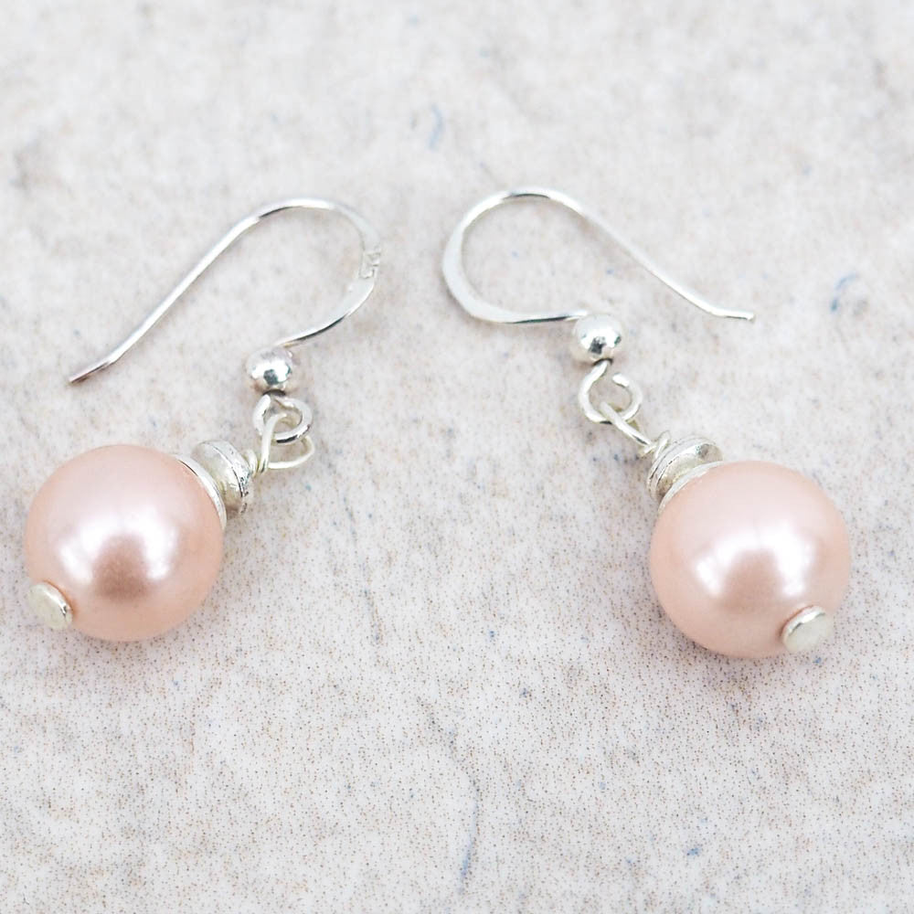 Earrings - Peach Shell Pearl