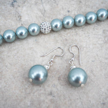 Earrings - Pale Green Shell Pearl