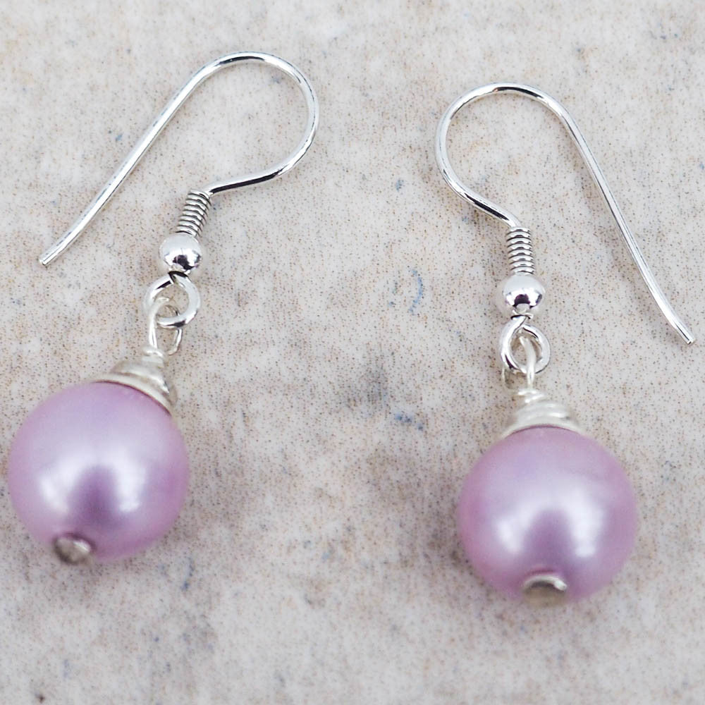 Earrings - Lilac Shell Pearl