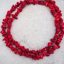 Necklace - Coral Chips (Deep Coral Red)