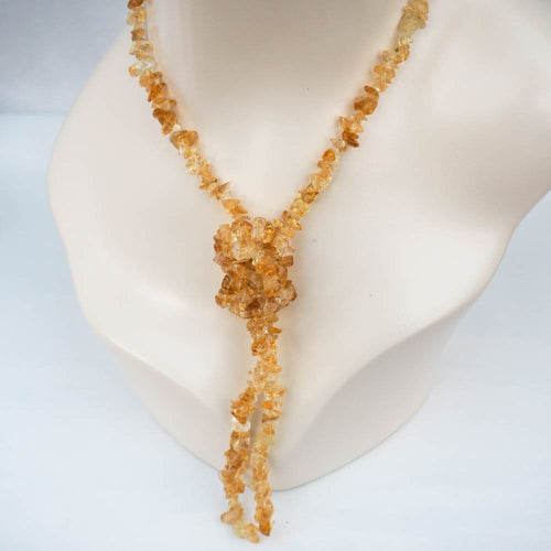Necklace - Citrine Chips (Yellow)