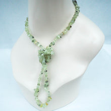 Necklace - Prehnite Chips (Light Green)
