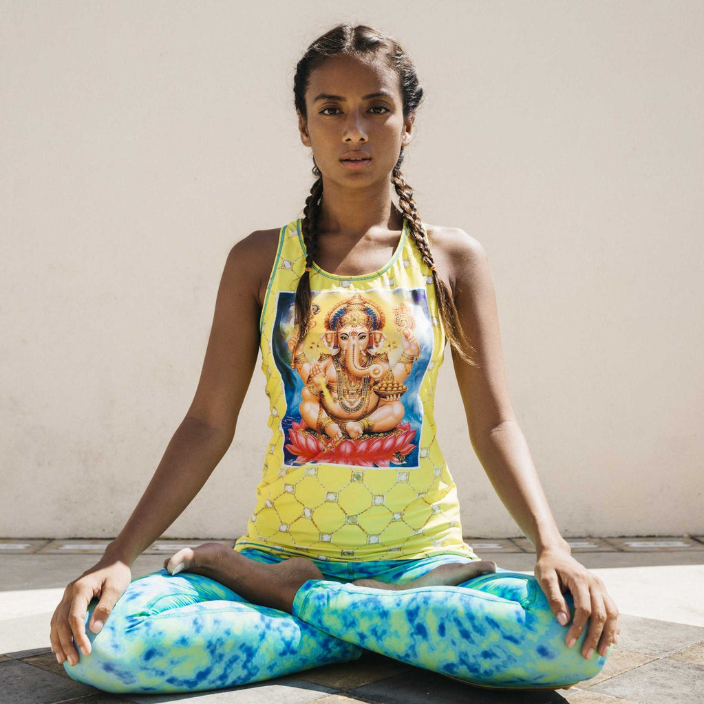 Yoga clothes yoga wear yoga outfits yoga top made from recycled PET bottles- Amanvas