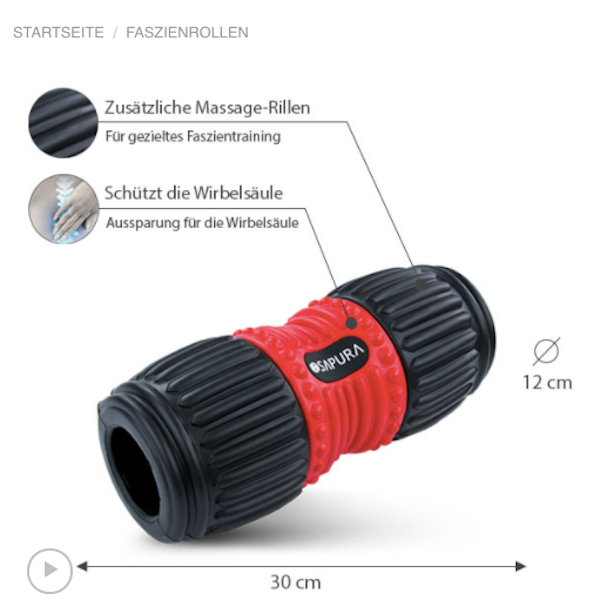 Foam roller self massage back pain fascia roller