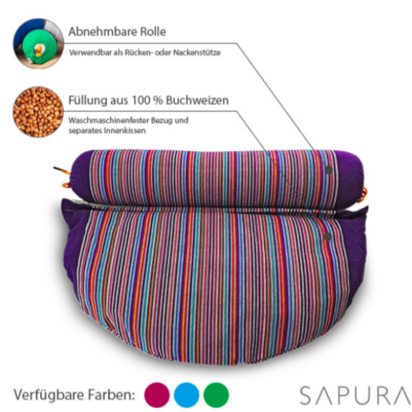 Yoga meditation cushion buckwheat filling