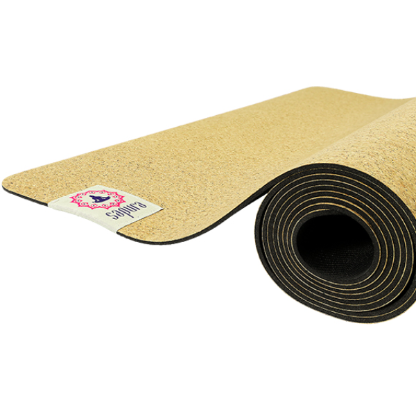 SAPURA NON SLIP CORK AND NATURAL RUBBER YOGA MAT