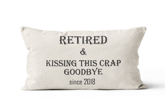 Retirement Gift Pillow for Federal Workers