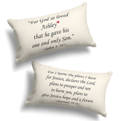 Personalized Bible Verse Pillow