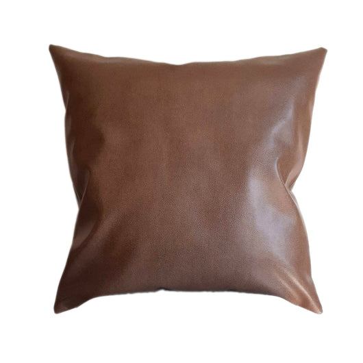 Faux Leather Pillow Cover, Front and Back Leather, Camel Khaki Tan Color Reptile Skin Throw Pillow Covers for Sofa Couch in Living Room Den