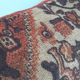 Moroccan Pillow Cover 20x20 Inch Shades of Brown Rust Tan Beige with Textured Chenille Weave Fabric in Middle Eastern Design
