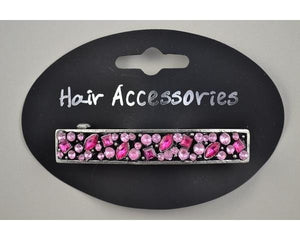 Silver Barrette with Pink Diamante Detailing - Lulu Bella Boutique
