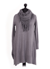 Corrina Cobweb Scarf Jumper Tunic - Lulu Bella Boutique