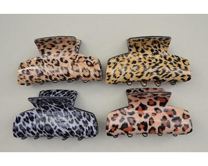 Animal Print Hair Clamp - Lulu Bella Boutique
