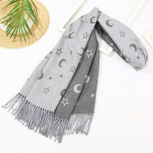 Hayley Stars and Moon Print Scarf