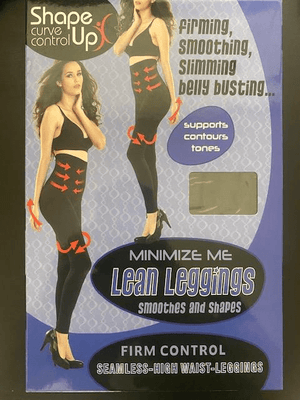 Jeanie High Waist Slimming Leggings With Tummy Support in Display Box - Lulu Bella Boutique