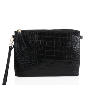 Samara Snake Skin Effect Clutch Bag