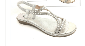 Leanne Diamante Sling Back Sandals - Lulu Bella Boutique