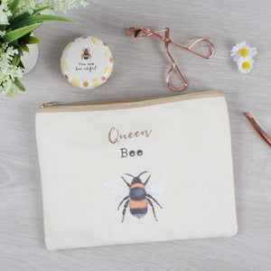 Queen Bee Makeup Pouch - Lulu Bella Boutique