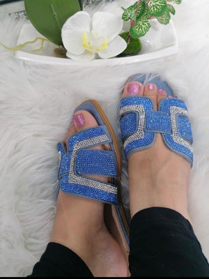 Jane Diamante Sliders - Lulu Bella Boutique