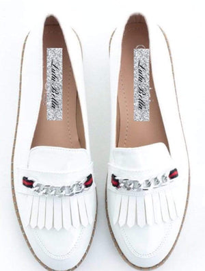 Gucci Inspired Chain Detail Loafers - Lulu Bella Boutique