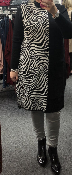 Jacqui Half Zebra Tunic Dress
