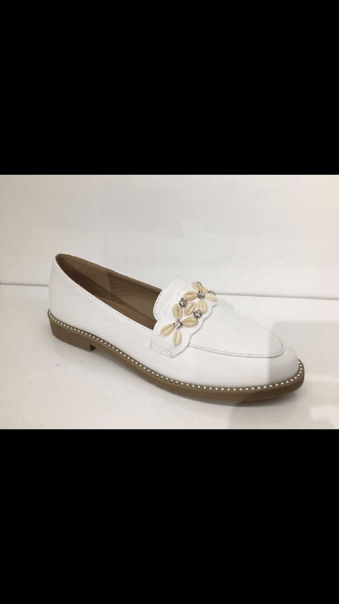 Shelly Sea Shell Detail Loafers