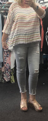 Avery Distressed Detail Jeans - Lulu Bella Boutique
