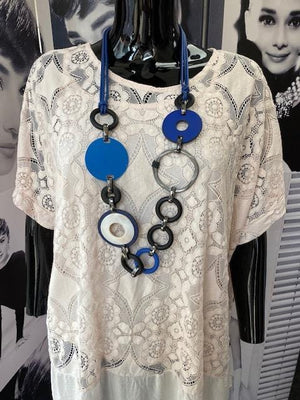 Kimmie Circle and Disc Detail Necklace - Lulu Bella Boutique