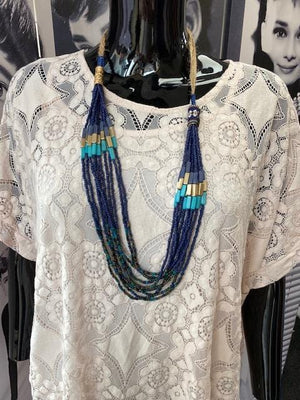 Briar Beaded Aztec Detail Necklace - Lulu Bella Boutique