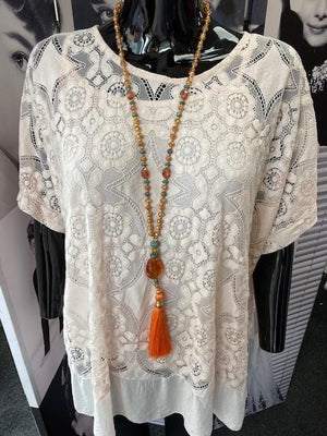 Jemma Jewel & Tassel Festival Necklace - Lulu Bella Boutique