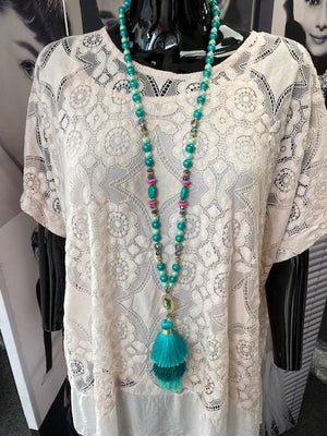 Trina Tri Colour Festival Necklace - Lulu Bella Boutique