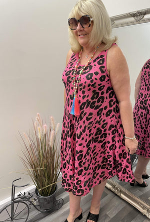 Saphira Leopard Print Dress