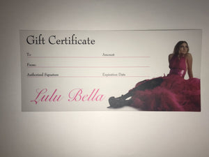 Gift Voucher - Lulu Bella Boutique