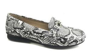 Suzanne Snake Print Buckle Loafers - Lulu Bella Boutique