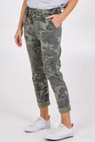 Miley Magic Non Crushed Camouflage Print Stretch Trousers - Lulu Bella Boutique