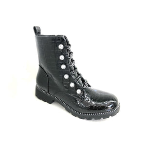 Delilah Diamante and Chain Detail Ankle Boots