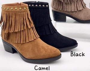 Tammy Tassel Ankle Boots